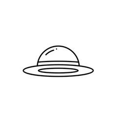 women fashion hat icon head wear headdress vector image