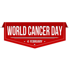 world cancer day banner design vector image