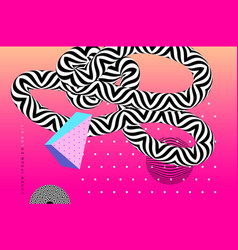 abstract background template with op art elements vector image