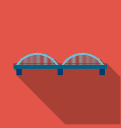 Bridge icon flate single building icon from the vector