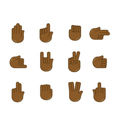 human finger gesturing flat poster on white vector image vector image