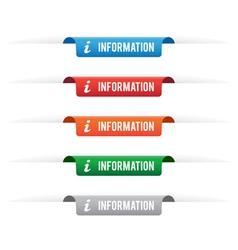 Information paper tag labels vector image