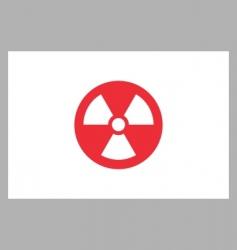 radiation sign on japan flag vector image