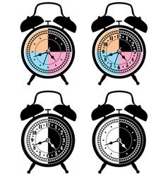 retro alarm clocks vector image vector image