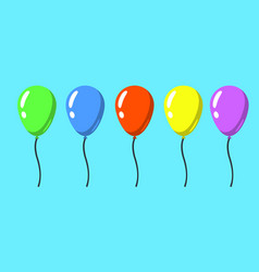 set of flat style isolated balloons for vector image vector image