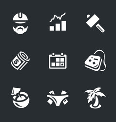 set of work and leisure icons vector image