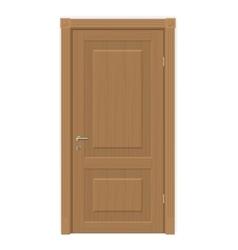 wooden door isolated vector image