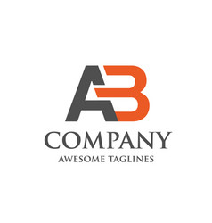 creative letter ab logo vector image vector image