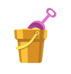 kid toy or children plaything sand bucket scoop vector image