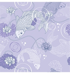 Koi carp background vector image vector image