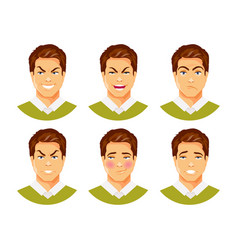 man emotions 2 vector image