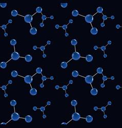 molecular model seamless pattern vector image vector image