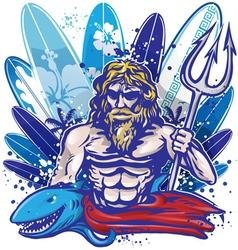 POSEIDON SURF vector image