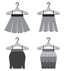 Black Women Skirts With Hangers vector image vector image