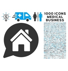House Mention Icon with 1000 Medical Business vector image