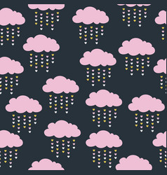 seamless pattern with pink clouds vector image vector image