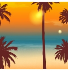 Summer holidays background Exotic landscape with vector image