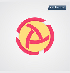 circle flat design vector image