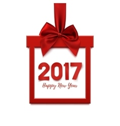 Happy New Year 2017 square banner vector image vector image