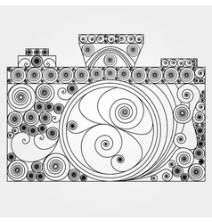 The photo camera in quilling style vector image vector image