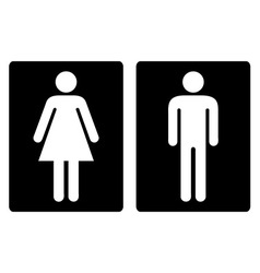 Toilet symbols simple vector image vector image