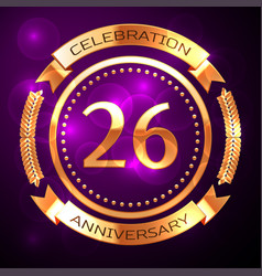 twenty six years anniversary celebration with vector image vector image