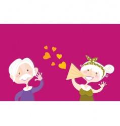 vintage Valentine's day vector image vector image