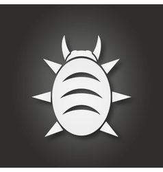 White bug icon vector image
