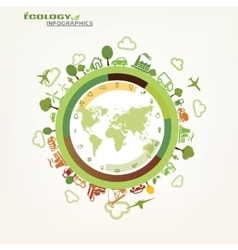 world global ecology concept environmental icons vector image