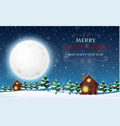 a merry christmas and happy new year template vector image