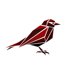Abstract bird polygonal vector