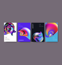 Abstract colorful liquid and fluid colors vector