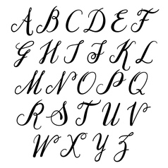 alphabet letters uppercase vector image
