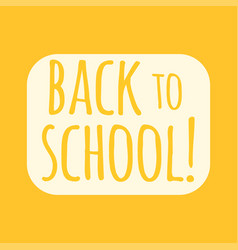 Back to school text vector