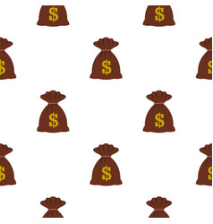 bag with dollars pattern flat vector image