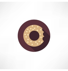 Bagel icon vector
