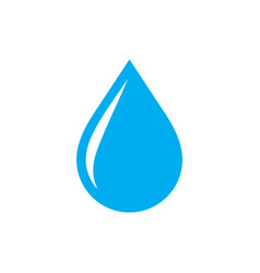 blue water drop - icon on white background vector image