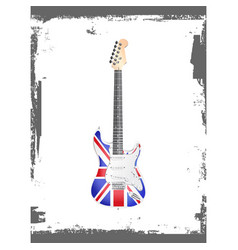 british rock and roll guitar vector image