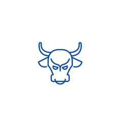 bull marketstock marketbullish line icon concept vector image