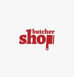 Butcher shop logo vector