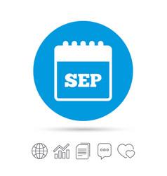 Calendar sign icon september month symbol vector