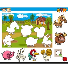 cartoon educational task for kids vector image
