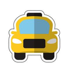 Cartoon taxi car public vehicule vector