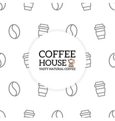 Coffee pattern or seamless background design vector