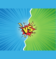 Comic frame vs versus duel battle or team vector