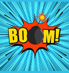 comic page bright explosive concept vector image
