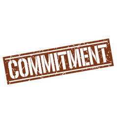 Commitment square grunge stamp vector