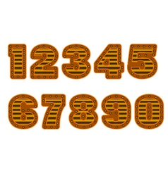 copper colored numbers vector image