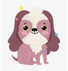 cute dog domestic cartoon animal pets vector image