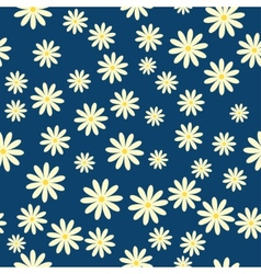 daisies floral pattern vector image